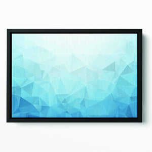 Blue Triangle Texture Floating Framed Canvas