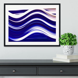 Blue Wave Framed Print - Canvas Art Rocks - 1