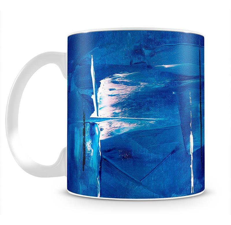 Blue and Green Abstract Painting Mug - Canvas Art Rocks - 2
