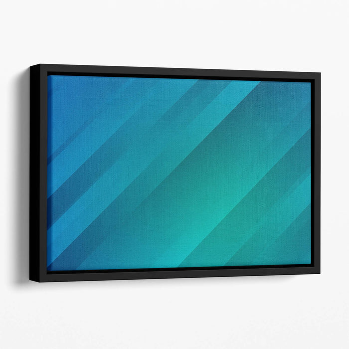 Blue and Green Floating Framed Canvas
