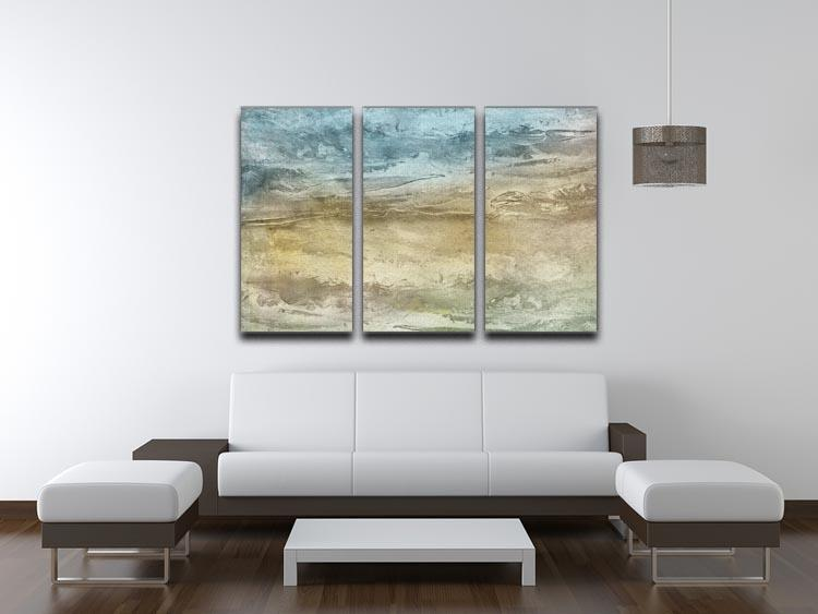 Blue and Grey Painting 3 Split Panel Canvas Print - Canvas Art Rocks - 3