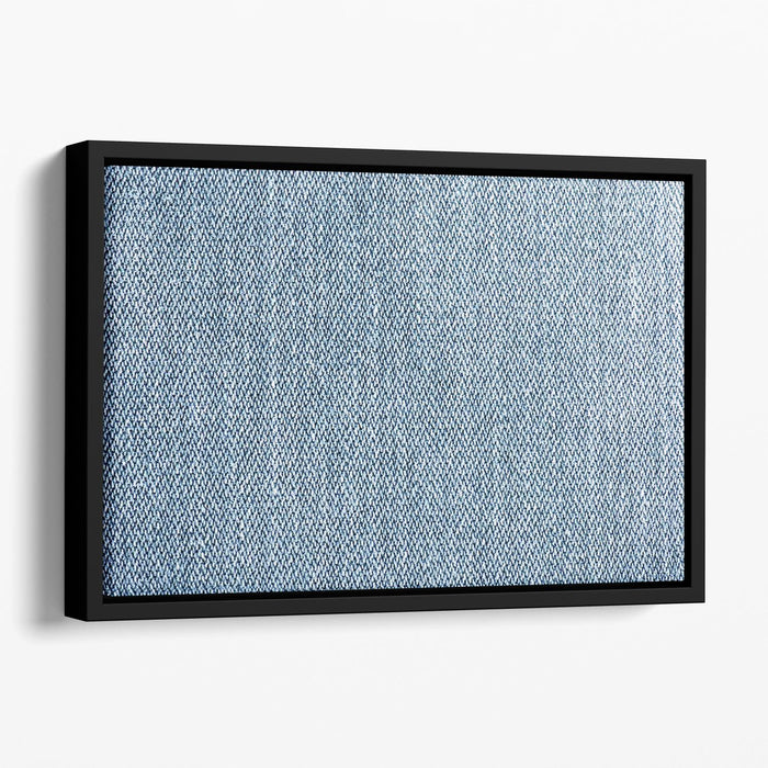 Blue denim texture Floating Framed Canvas