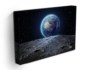 Blue earth seen from the moon surface Canvas Print or Poster - Canvas Art Rocks - 3