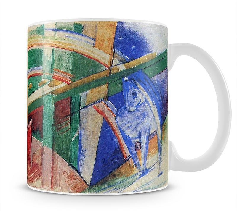 Blue horse with rainbow by Franz Marc Cup - Canvas Art Rocks - 1