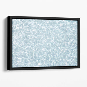 Blue water texture Floating Framed Canvas