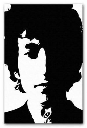 Bob Dylan Print - Canvas Art Rocks - 1