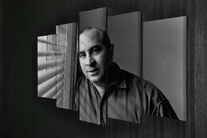 Bob Hoskins in 1986 5 Split Panel Canvas  - Canvas Art Rocks - 2