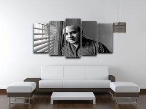Bob Hoskins in 1986 5 Split Panel Canvas  - Canvas Art Rocks - 3