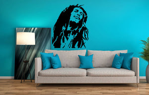 Bob Marley Wall Decal - US Canvas Art Rocks