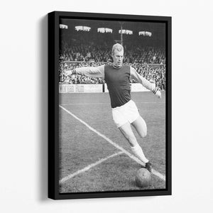 Bobby Moore West Ham Footballer Floating Framed Canvas