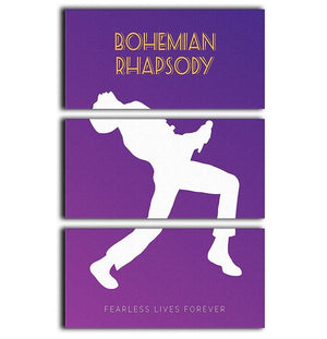 Bohemian Rhapsody Minimal Movie 3 Split Panel Canvas Print - Canvas Art Rocks - 1