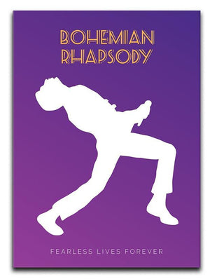 Bohemian Rhapsody Minimal Movie Canvas Print or Poster  - Canvas Art Rocks - 1