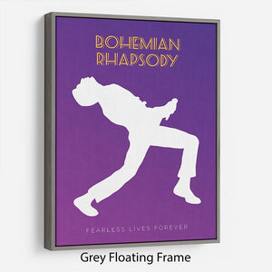 Bohemian Rhapsody Minimal Movie Floating Frame Canvas - Canvas Art Rocks - 3