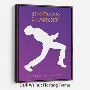 Bohemian Rhapsody Minimal Movie Floating Frame Canvas - Canvas Art Rocks - 5