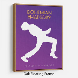 Bohemian Rhapsody Minimal Movie Floating Frame Canvas - Canvas Art Rocks - 9