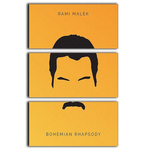 Bohemian Rhapsody Rami Malek Minimal Movie 3 Split Panel Canvas Print - Canvas Art Rocks - 1