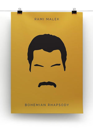 Bohemian Rhapsody Rami Malek Minimal Movie Canvas Print or Poster - Canvas Art Rocks - 2