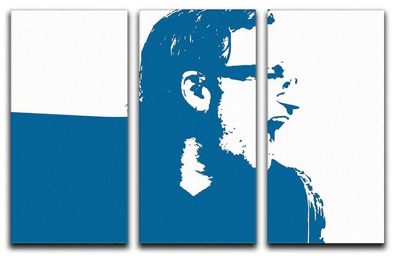 Bono Pop Art 3 Split Panel Canvas Print - Canvas Art Rocks - 1