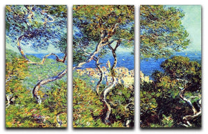 Bordighera by Monet Split Panel Canvas Print - Canvas Art Rocks - 4