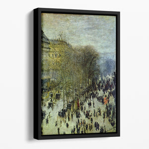 Boulevard of Capucines by Monet Floating Framed Canvas