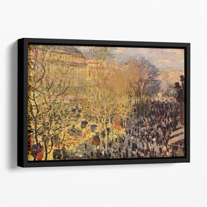 Boulevard of Capucines in Paris by Monet Floating Framed Canvas
