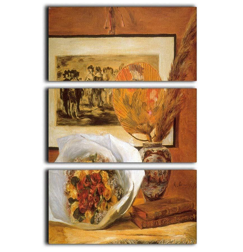 Bouquet by Renoir 3 Split Panel Canvas Print - Canvas Art Rocks - 1