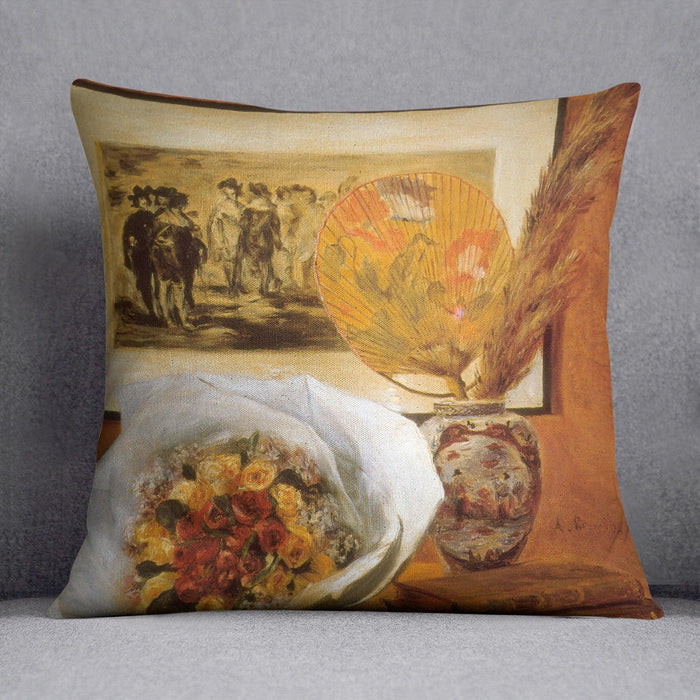 Bouquet by Renoir Throw Pillow