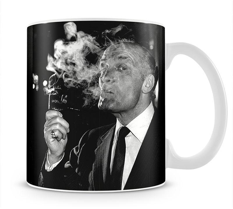 Boxer Henry Cooper smoking a pipe Mug - Canvas Art Rocks - 1