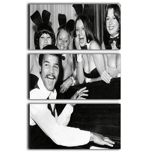 Boxer John Conteh with bunny girls at the playboy club 3 Split Panel Canvas Print - Canvas Art Rocks - 1