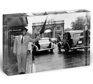 Boxer Sugar Ray Robinson in London 1962 Acrylic Block - Canvas Art Rocks - 1