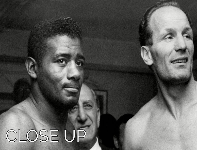 Boxers Floyd Patterson and Henry Cooper 3 Split Panel Canvas Print - Canvas Art Rocks - 3