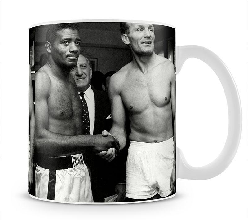 Boxers Floyd Patterson and Henry Cooper Mug - Canvas Art Rocks - 1