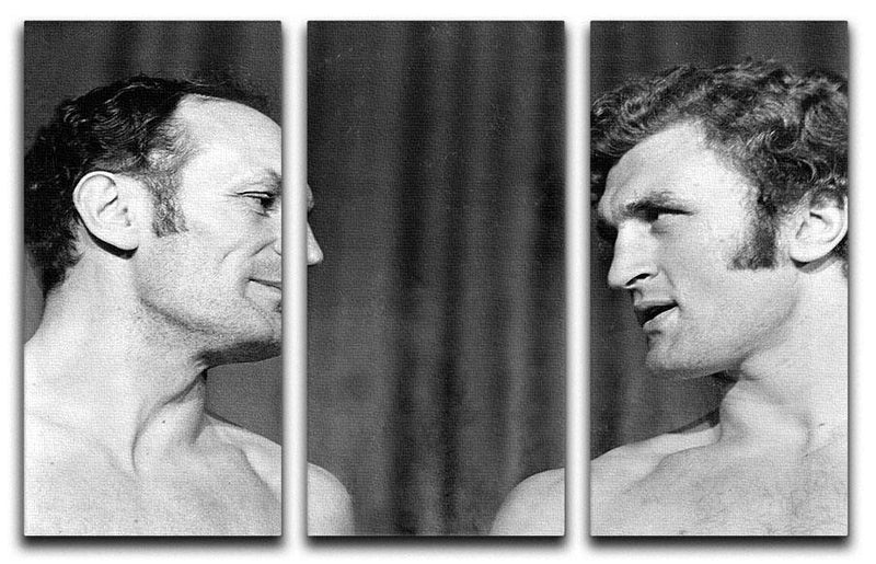 Boxers Henry Cooper and Joe Bugner 3 Split Panel Canvas Print - Canvas Art Rocks - 1
