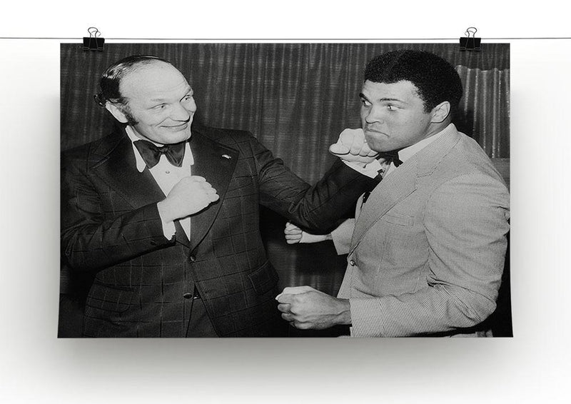 Boxers Henry Cooper and Muhammad Ali Canvas Print or Poster - Canvas Art Rocks - 2