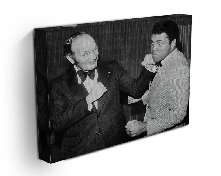 Boxers Henry Cooper and Muhammad Ali Canvas Print or Poster - Canvas Art Rocks - 3