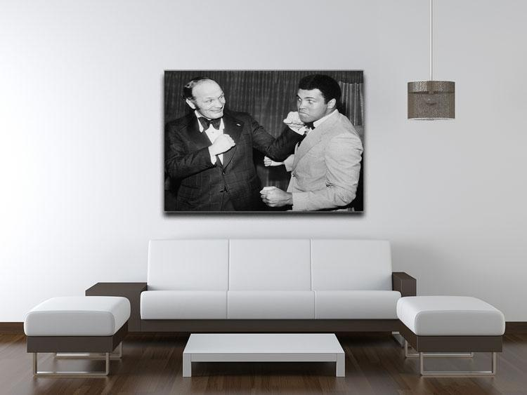 Boxers Henry Cooper and Muhammad Ali Canvas Print or Poster - Canvas Art Rocks - 4