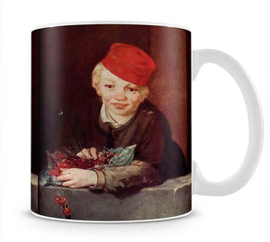 Boy with the cherries by Manet Mug - Canvas Art Rocks - 1