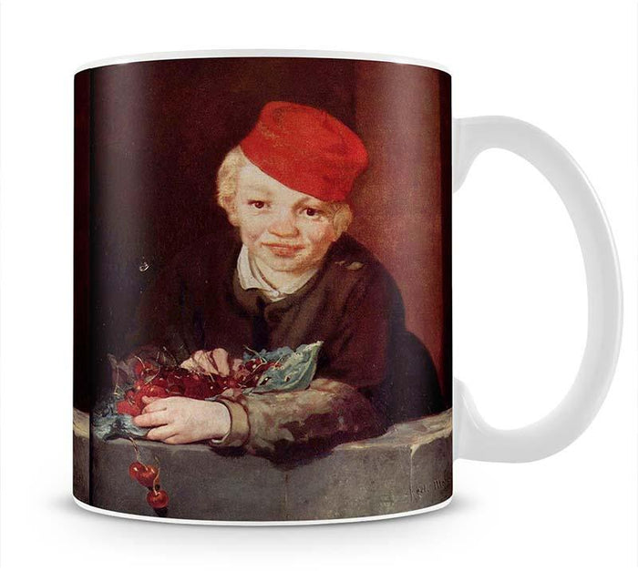 Boy with the cherries by Manet Mug
