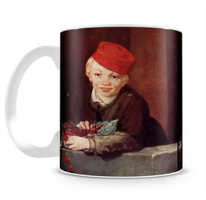 Boy with the cherries by Manet Mug - Canvas Art Rocks - 2