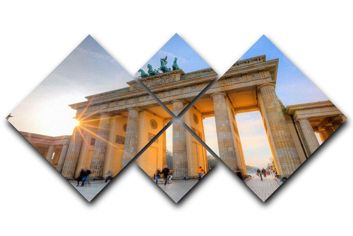 Brandenburg gate 4 Square Multi Panel Canvas