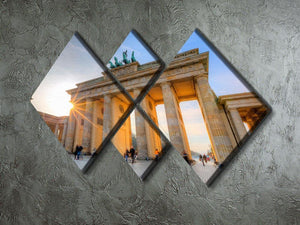 Brandenburg gate 4 Square Multi Panel Canvas  - Canvas Art Rocks - 2