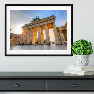 Brandenburg gate Framed Print - Canvas Art Rocks - 1