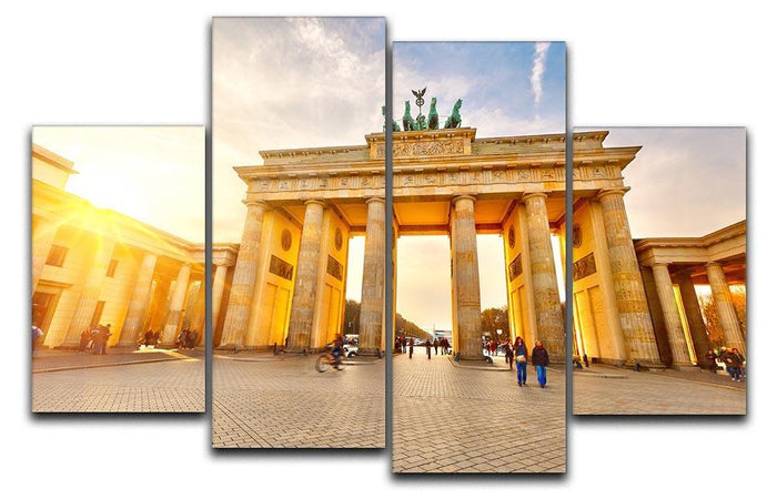 Brandenburg gate at sunset 4 Split Panel Canvas