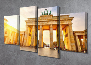 Brandenburg gate at sunset 4 Split Panel Canvas  - Canvas Art Rocks - 2