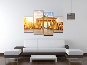 Brandenburg gate at sunset 4 Split Panel Canvas  - Canvas Art Rocks - 3