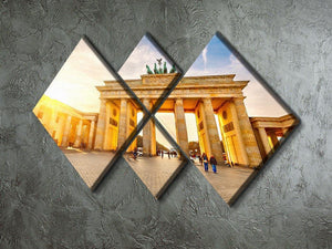 Brandenburg gate at sunset 4 Square Multi Panel Canvas  - Canvas Art Rocks - 2