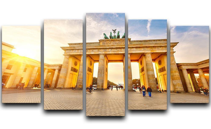 Brandenburg gate at sunset 5 Split Panel Canvas