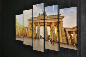 Brandenburg gate at sunset 5 Split Panel Canvas  - Canvas Art Rocks - 2
