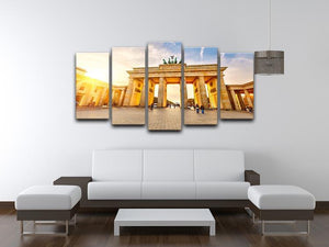 Brandenburg gate at sunset 5 Split Panel Canvas  - Canvas Art Rocks - 3