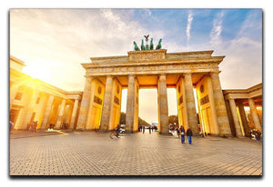 Brandenburg gate at sunset Canvas Print or Poster  - Canvas Art Rocks - 1